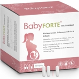 BabyFORTE FolsäurePlus Vitamine • 180 Kapseln • 400/800 mcg Folsäure sowie Eisen & Jod• Für Kinderwunsch, Schwangerschaft & Stillzeit • Vegan • Vitamine Schwangerschaft - 1