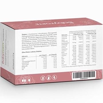 BabyFORTE FolsäurePlus Vitamine • 60 Kapseln • 400/800 mcg Folsäure • Für Kinderwunsch, Schwangerschaft & Stillzeit • Folsäure, Eisen, Jod • Vegan - 2