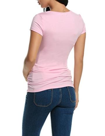 HOTOUCH Damen Schwanger T-Shirt Umstandsmode Stillshirt Umstandsshirt Mutterschaft Umstandstop Mit Rundhalsausschnitt - 6