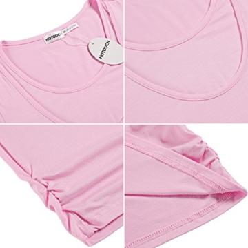 HOTOUCH Damen Schwanger T-Shirt Umstandsmode Stillshirt Umstandsshirt Mutterschaft Umstandstop Mit Rundhalsausschnitt - 7