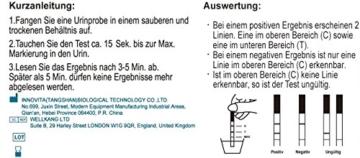 KTX7 Schwangerschaftstest - Empfindlichkeit: 10mIU/ml, 14 Stück - 3