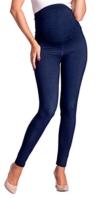 Zeta Ville -Umstandsmode Leggings Hose elastische Bund Denim-Look - Damen - 948c (Marine Jeans, EU 34/36, M) - 1