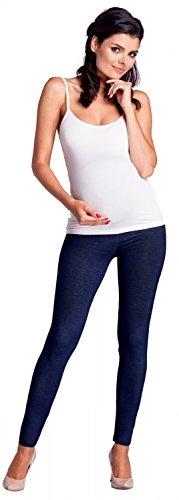 Zeta Ville -Umstandsmode Leggings Hose elastische Bund Denim-Look - Damen - 948c (Marine Jeans, EU 34/36, M) - 6